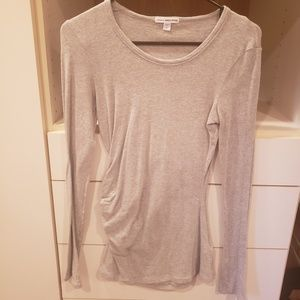 James Perse Ruched Long Sleeve Grey Size 1